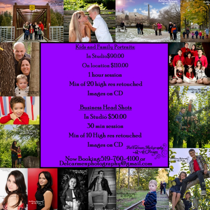 kid, family portraits Flyer 2015